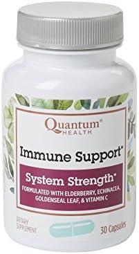 Quantum Health Immune Support Elderberry Echinacea Vitamin C 30 Capsules Pack of 3