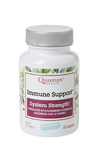 Quantum Health Immune Support Elderberry Echinacea Vitamin C 30 Capsules (Pack of 3)