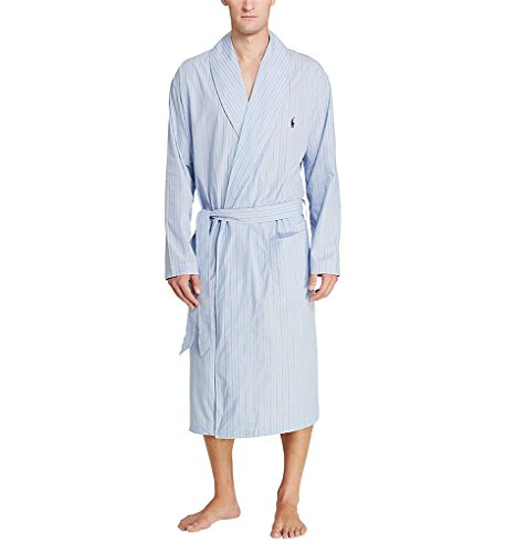 Polo Ralph Lauren Birdseye 100% Cotton Woven Robe (R171) L/XL/Andrew Stripe/Navy Birdseye Stripe Polo