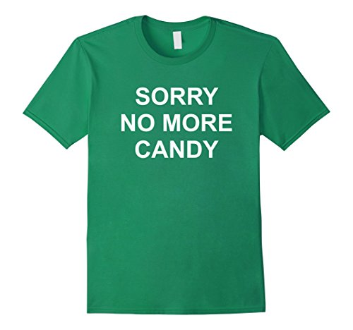 Mens Funny Halloween Costume No More Candy Pumpkin T-shirt Small Kelly Green (Not So Scary Halloween Party 2017)