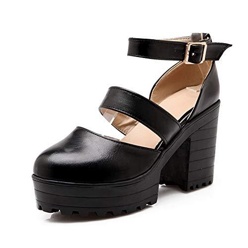 Noir Noir 5 Femme 36 EU BalaMasa APL10552 Plateforme qTwtHaI