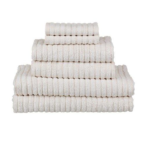 glo Organic Stripe (White)-Bath Sheet