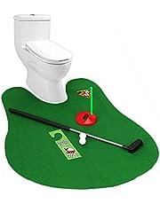 Hemore - Set de mini golf para baño - Juego de golfpara inodoro y cuarto de baño- Palo de golf para orinal