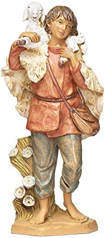 Fontanini, Nativity Figure, Gabriel The Shepherd, 12 Scale, Collection, Handmade in Italy, Designed and Manufactured in Tuscany, Polymer, Hand Painted, Italian, Detailed