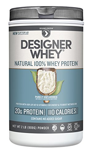 Designer Whey Natural Protein, Purely Unflavored, 2 Pound
