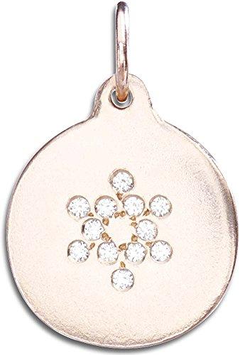 Helen Ficalora Star of David Disk Charm Pave Diamonds Rose Gold ()