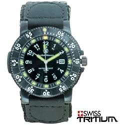 Smith & Wesson Men's SWW-357-N 357 Tactical Swiss Tritium H3 Black Dial Nylon Band Watch