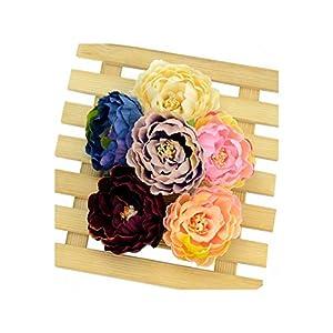 10pcs 5cm European Artificial Peony Flower Head for Wedding Home Decoration Corsage Wreath Fall Vivid Fake Silk Flowers 56