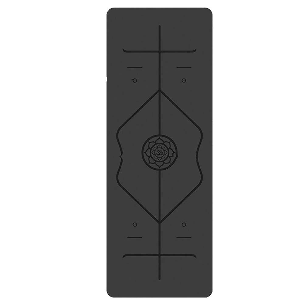 Pu-Gummi-Yoga-Matte Benutzerdefinierte KöRper Linie Naturkautschuk Yoga Matten Lokalen Yoga-Matte Yoga-Matte