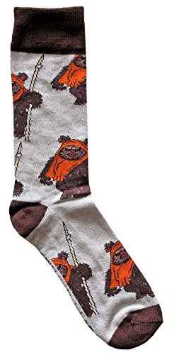 Hyp Star Wars Wicket Ewok Pattern Men's Crew Socks Shoe Size -