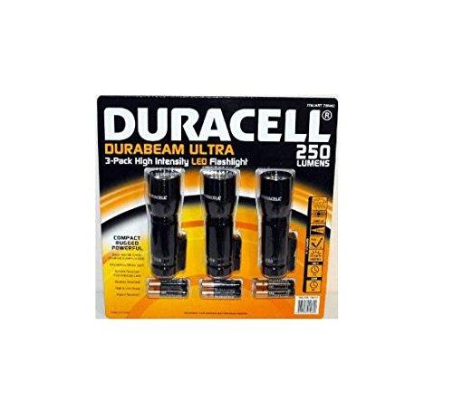DURACELL Ultra Flash, LEDs hoher Intensität; 250 Lumen, 3 Stück, Taschenlampe