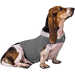 FREAHAP R Dog Anxiety Jacket Soft Cotton Pet Dog Calming Vest for Anxiety & Thunder Light Grey M
