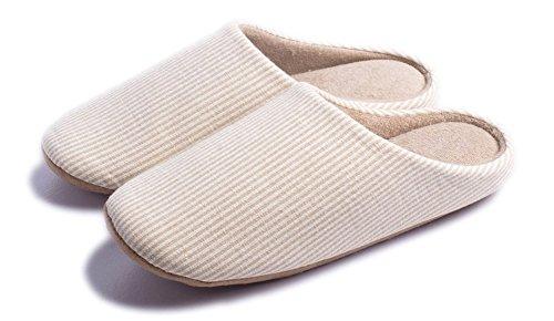 Indoor Slippers Soft Home Autumn Winter Memory Foam Wood Floor Couple Men Women Warm, Yellow, US6.5 - 7.5 - UK5.5 - 6.5 - EUR38 - 39 by Lijeer