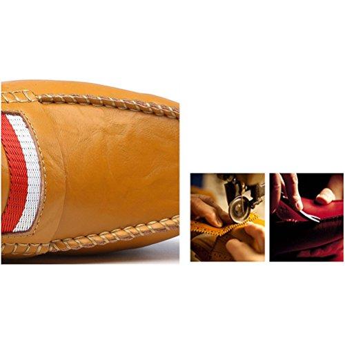LYZGF Hommes Jeunes Mode Décontractée Pantoufles Paresseux Conduite Chaussures en Cuir Blue mcnMdq