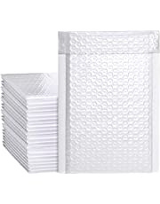 Bubble Mailers, 6x10 inches Self Sealing Padded Envelopes Bubble Shipping Envelope White Padded Mailer Bags (50 Pack)