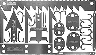 Survival MultiTool Card Sized:Bug Out Bag CampingTool: Best Multitool for Camping and Wilderness Survival Preppers Gear; Fishing Camping Hiking Hunting Emergency Kit; by RumbaDock