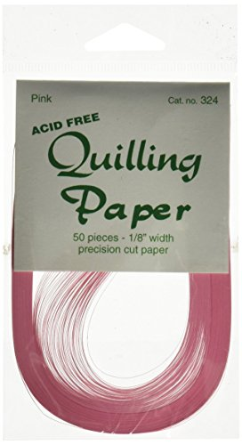 Crafts Quilling Paper 50 Piece (Lake City Craft 1/8 Inch Quilling Paper, Pink)