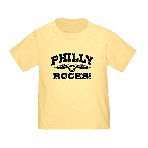 CafePress Philly Rocks Toddler T-Shirt Cute Toddler T-Shirt, 100% Cotton Daffodil Yellow