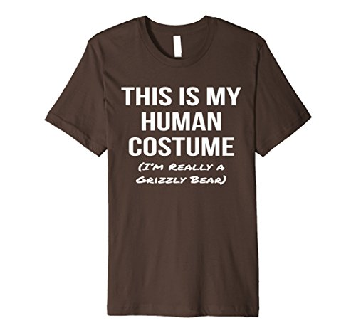 Grizzly Bear Costumes (Mens Human Costume I'm a Grizzly Bear Shirt Halloween Costume Tee 3XL Brown)
