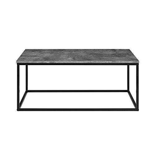 WE Furniture AZ42LWSQDC Wood Coffee Table, Dark Concrete