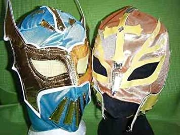 SOPHZZZZZ TOY SHOP Sin Cara & Color variará Rey Mysterio Máscara de lucha libre WWE Disfraz