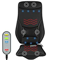 Gideon Car Seat Massager with Heating and Cooling Luxury Seat Cushion Cover Includes 12V Cigarette Lighter Power and Temperature and Message Controller