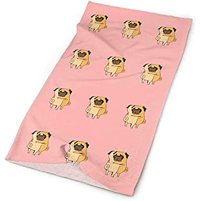 Cartoon Puppy Pug Dog Hug Headband Unisex Headwrap Magic Head Scarf Bandana Headwear Neck Scarf Multifunction Balaclava Soft Headdress Wristband Face Mask Neck Gaiter Estimated Price - £15.67