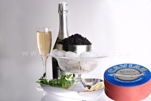OLMA Black Caviar Hackleback 17.6 oz (500g) Metal Tin ()