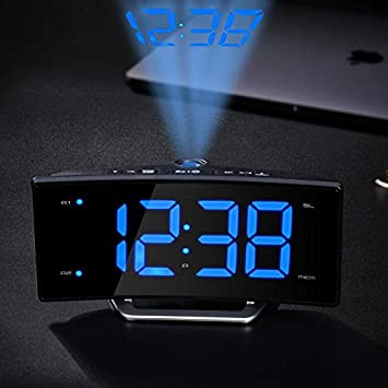 MRSLIU Reloj De Proyección Atómica - Proyector De Temporizador Digital - Proyección De Techo De Pared