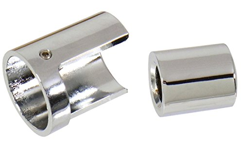 Orange Cycle Parts Heel/Toe Shifter Shaft Cover Chrome Plates (2 Pieces) Replaces OEM 35495-06 for Harley Softail Models 2000/Later Aftermarket