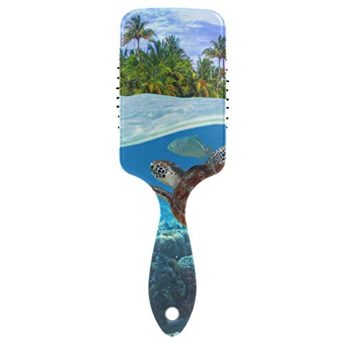 Green Turtle Underwater Hair Brush for Wet & Dry Hair Grip Soft Bristles for Anti Static & Frizz Air Cushion Comb for Women Girls