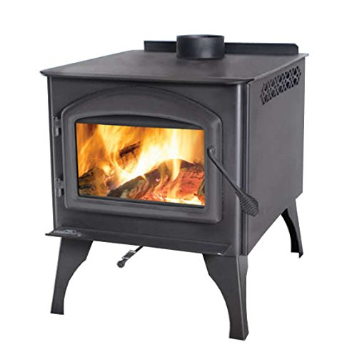 (Rockford Chimney Supply Napoleon 1400 Wood Burning Stove with Steel Legs)