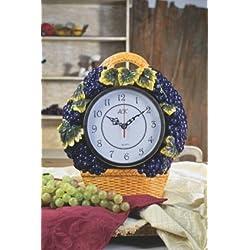 3-D Grape Ceramic Clock 14.5H, 82807 by ACK