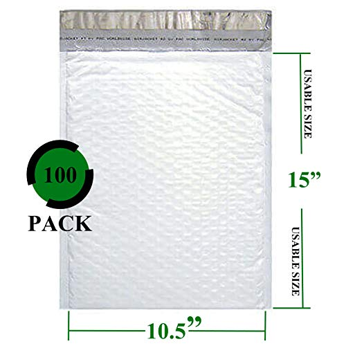Sales4Less #5 Poly Bubble Mailers 10.5X16 Inches Padded Envelope Mailer Waterproof Pack of 100