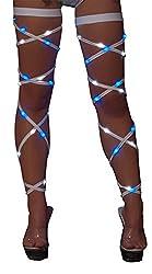 Light-up Leg Wraps In Blue & White