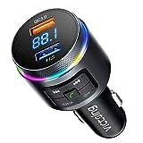 VicTsing (2021 Upgraded) Bluetooth FM Transmitter