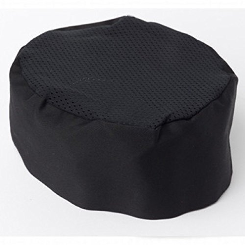 - Chefskin Chef Cook Surgeon Beanie Hat Mesh TOP Black Design Lite Cool