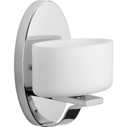 Progress Lighting P2037-15WB Arise 1-Lt. Bath and Vanity Fixture with Etched opal glass shade by Progress Lighting