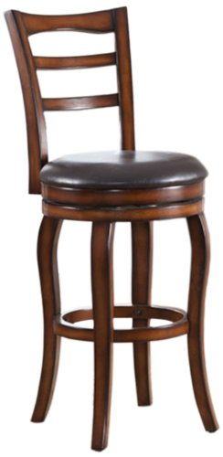 roundhill counter height solid wood swivel bar stools with back 24 inch cherry set of 2. Black Bedroom Furniture Sets. Home Design Ideas