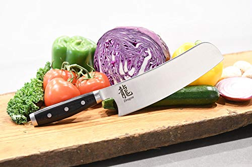 Dragon 8.5'' Fusion Chef's Knife Made with American Steel and Handcrafted in Japan by Dragon (Image #2)