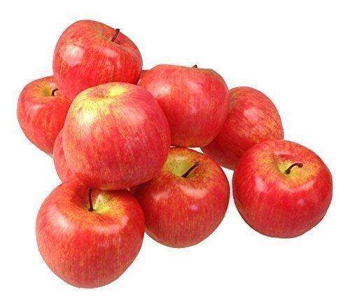 Deko Äpfel Apfel 10 Stück rot Kunstobst Kunstgemüse künstliches Obst Gemüse Dekoration