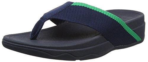 Fitflop Surfa - Sandalias Azul (Midnight Navy/Parakeet Green)
