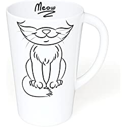 Coffee Mug - Gift For Cat Lovers - Large 16 oz. Novelty Ceramic Mug - Great Gift Idea for Anyone Who Loves Cats and Kittens - Dishwasher Safe