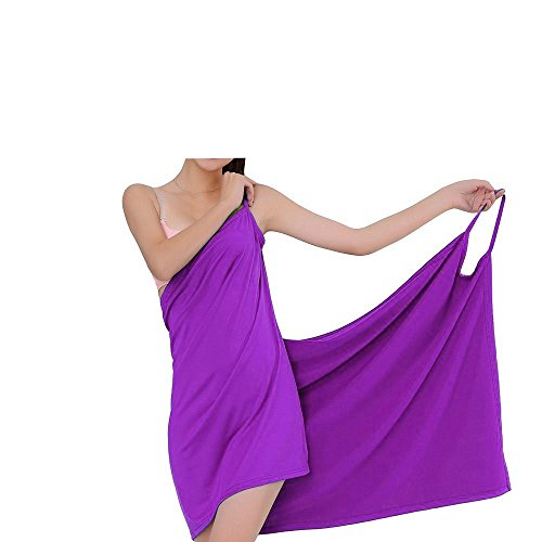 AAlisa Womens Beach Wear Cover Up Cotton Soft Sling Skirt Dress, Purple.