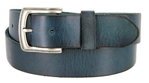 Men's Genuine One-Piece Full Grain Leather Casual Jeans Belt 1-1/2