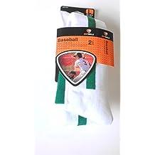 2 Pair Sof Sole Adult Baseball Kelly Green Stirrup Team Sock - Large (Shoe Si...
