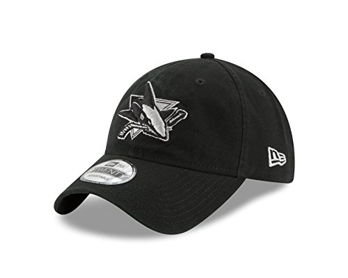 NHL San Jose Sharks Adult Core Classic Black 9TWENTY Adjustable Cap, One Size, - Jose Black