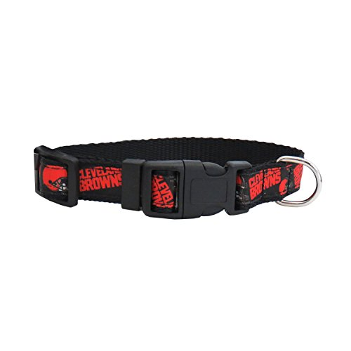 Collar Browns Dog Cleveland (NFL Cleveland Browns Team Pet Ribbon Collar, Medium)