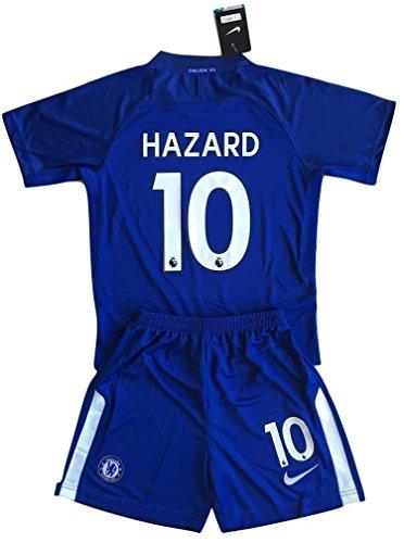 Tamara-Nikollova 2017-2018 Chelsea Hazard #10 Youths Home Soccer Jersey & Shorts Set (9-10 Years (Chelsea Soccer Shirt)