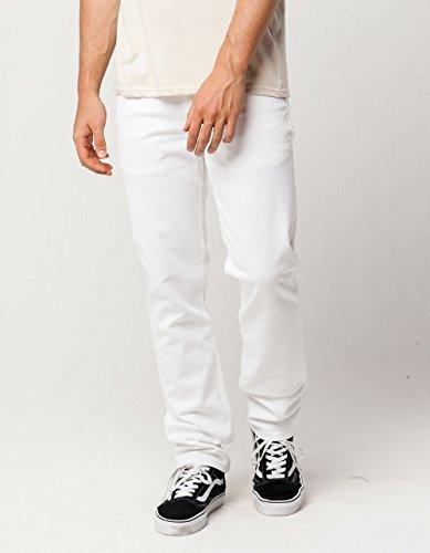 Levi's Men's 511 Slim Fit Jean, White - Stretch, 29W x 30L